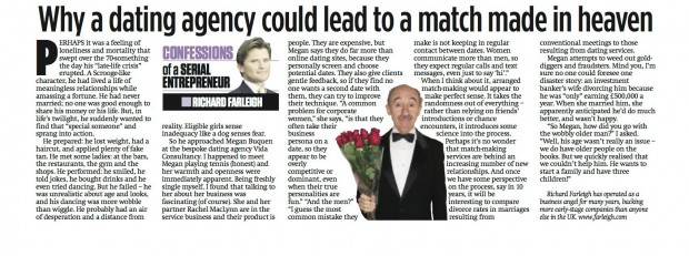 vida dating agency He suggests that prospective clients find out how many people are on the dating agency's database the financial times and its journalism are subject to a self.