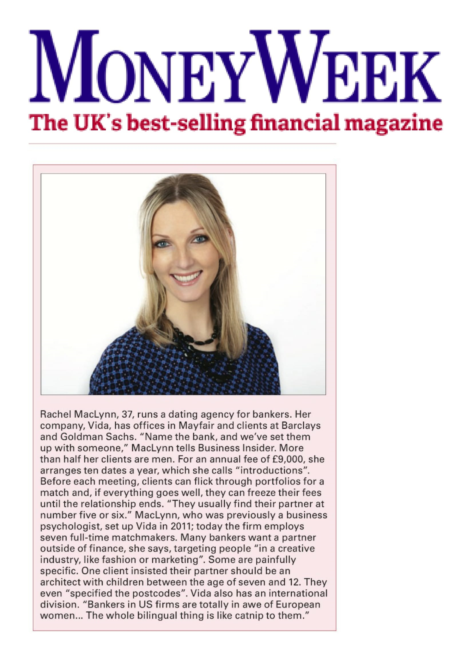 rachel maclynn in MoneyWeek