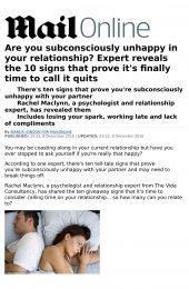 Mail Online article unhappy in your relationship