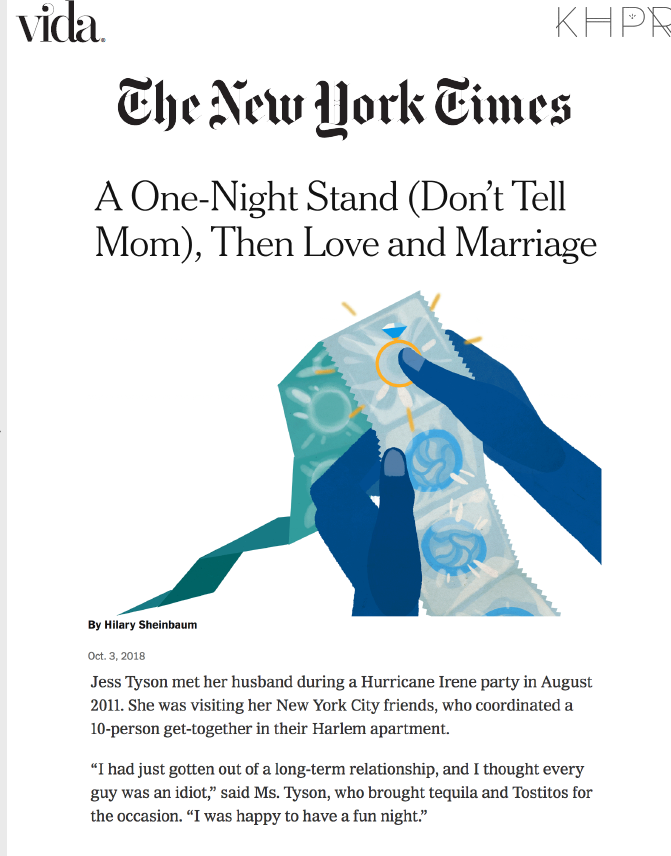 The New York Times: A One-Night Stand (Don't Tell Mom), Then