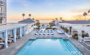 Pool at Shutters by the Sea in Santa Monica California.