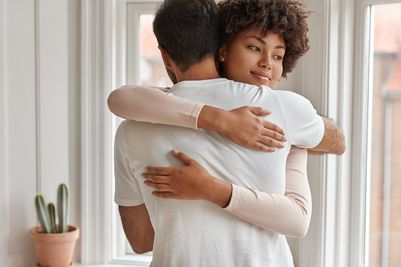 Couple Embrace through Stages of Relationship